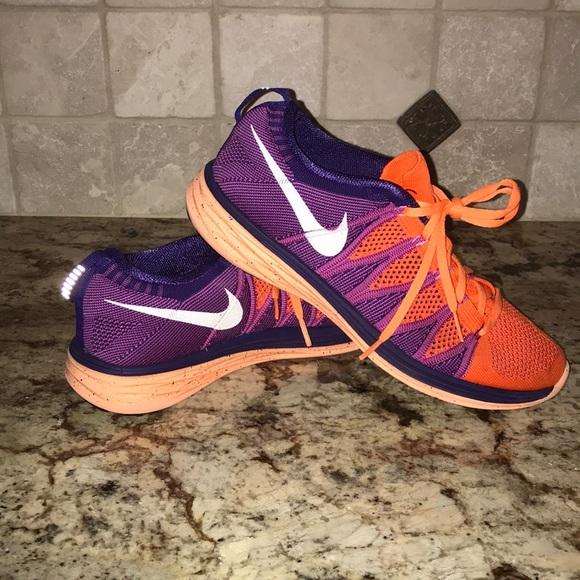 Women's Nike Flyknit Lunar 2 Orange & Purple